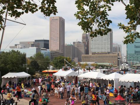 At the Baltimore Book Festival, appearances by hundreds of local, celebrity and nationally known authors, book signings, more than 100 exhibitors, readings on multiple stages, workshops, panel discussions and storytellers