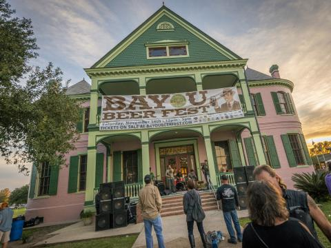 Music on the front porch at Bayou Beer Fest