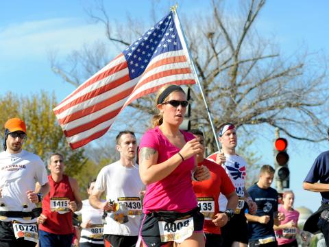 Runners in the annual Marine Corps Marathon