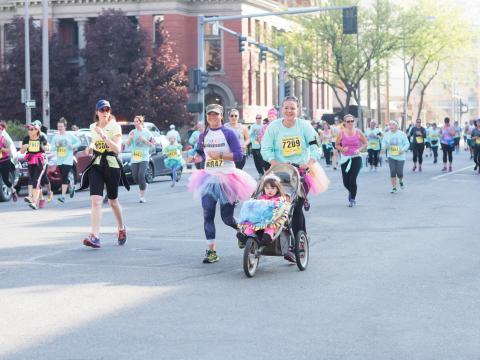 Participating in the Montana Women's Run