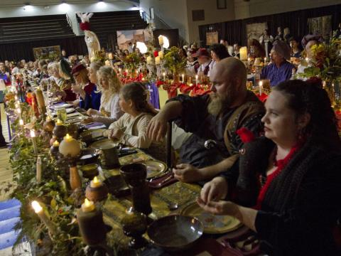 Themed dinner at the Alabama Renaissance Feast & Faire in Florence