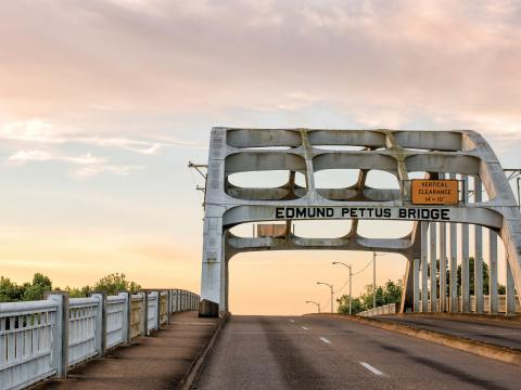 Edmund Pettus Bridge, site of the annual Bridge Crossing Jubilee in Selma