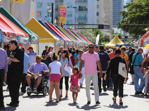 Miami Book Fair, an eight-day literary festival in downtown Miami, Florida
