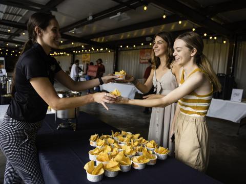 Sampling treats at the Taste of Rogers event in Arkansas